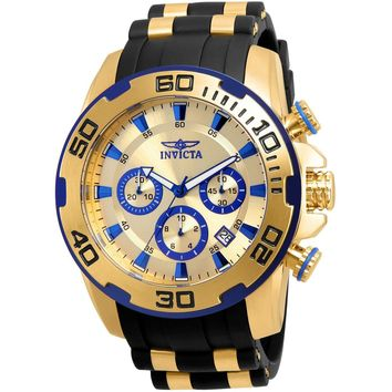 Invicta Men's 22308 Pro Diver Quartz Chronograph Gold Dial Watch