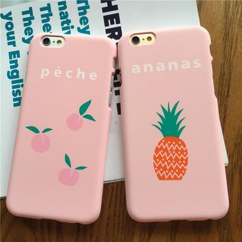 pink fruit case for iphone 7 7plus iphone se 5s 6 6 plus high quality cover gift box  number 1