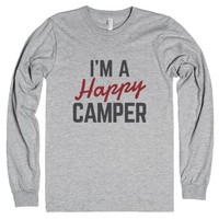 I'm A Happy Camper Long Sleeve T-shirt Ide02090320-T-Shirt
