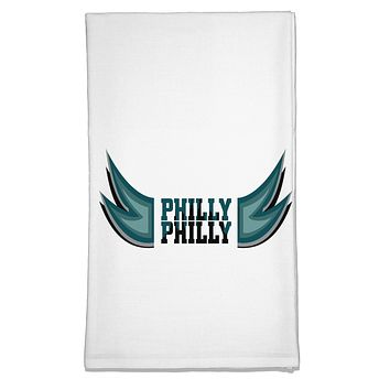 Philly Philly Funny Beer Drinking Flour Sack Dish Towel by TooLoud