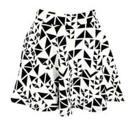 ABSTRACT TRIANGLE SCUBA SKATER SKIRT