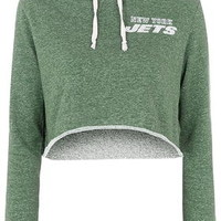 NY Jets Crop Hoodie By Tee and Cake - Green