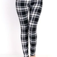 Peaceful Plaid Printed Leggings