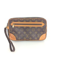 Authentic Louis Vuitton Marly Dragonne GM Clutch Bag