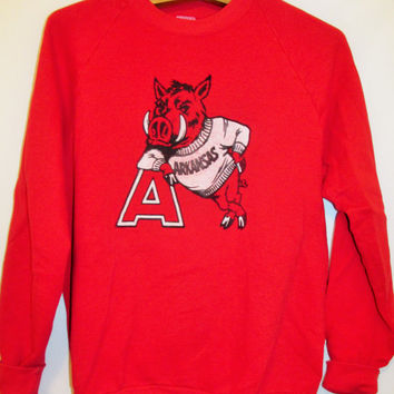 Vintage 1990's Arkansas Razorbacks Sweatshirt