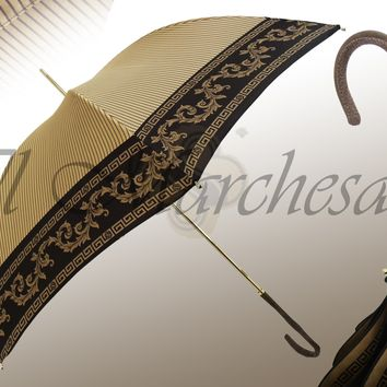 Marchesato Beige and Brown Umbrella