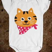 Skreened - cute baby one-piece, cute cat, cartoon cat