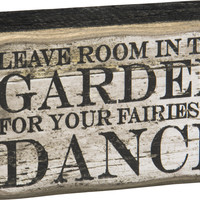Primitives By Kathy Fairies To Dance Box Sign