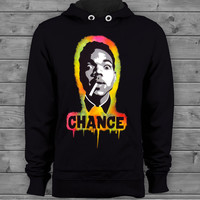 Chance The Rapper Acid Rap Black Airbrush Stencil Hip Hop Graffiti Rap Hoodie