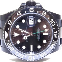 ROLEX GMT MASTER II OYSTER PERPETUAL BLACK PVD REF.116710LN W/ CARD 2008