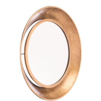 Gold Ovali Wall Mirror, Medium
