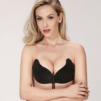 Women The Goddess Breast Invisible Silicone Push Up Bra Soutien Gorge Dentelle Invisible Bra d4