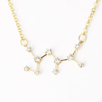 Sagittarius Constellation Zodiac Necklace (11/23-12/22) - As seen in Real Simple & People Magazine