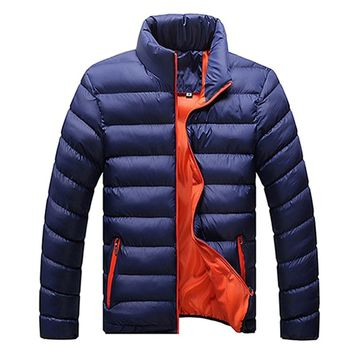 Cotton Jacket 2017 Winter Warm Fashion Mens