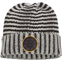 Men's Boston Bruins Reebok Gray Crosscheck Cuffed Knit Hat