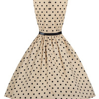 Casual Retro Elegant Sleeveless 50s Vintage Polka Dot Dress