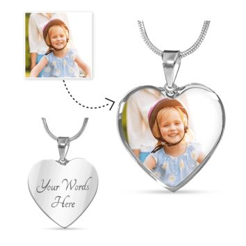Show Love For Them Personalized Photo Heart Necklace