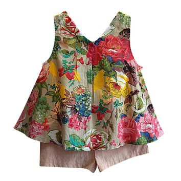 2 set Baby Girls Outfit for summer