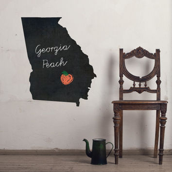 Georgia Chalkboard State wall decal