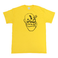 Neon Yellow Hand Drawn Shirt