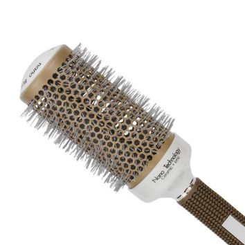 Professional Hair Salon Styling Temperature Color Change Ceramic Iron Radial Round Hairdressing Barrel Curler Brushes Comb
