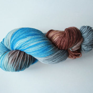 Adrift - Fingering/SOCK Weight Superwash Merino Wool & Nylon Yarn - Hand-Painted Yarn - 462 Yards