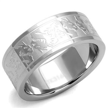 Men's or Ladies Asian Style Dragon Wedding Band Ring