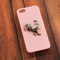 Rooster iPhone 5 5s Case Chicken iPhone 4 4s Case Cockerel iPhone 5 5s 5c Case iPhone 6 Plus Chicken Farm Bird Cock S5 Case Phone Pink