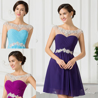CHEAP~Beads Short Formal Prom Dress Cocktail Evening Party Homecoming Gown Dress