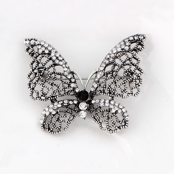 Women Jewelry Accessory Brooch Vintage gun black Butterfly/Dragonfly Animal Flower wedding Jewelry brooch mens flower lapel pins