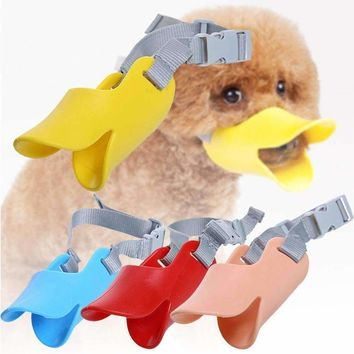 Funny Duck Bill Style Dog Mouth Muzzle Bark / Bite Stop Mouth - Color Random