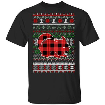 Chinchilla Red Plaid Ugly Christmas Sweater Funny Gifts