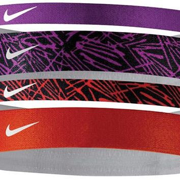 Nike Printed Headbands - 4 bands