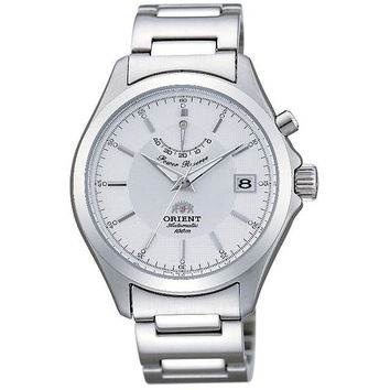 Orient EX05003W Men's White Dial Power Reserve Stainless Steel Automatic Watch