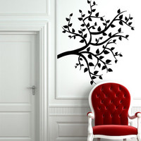Wall Vinyl Sticker Decals Art Decor Tree Branch Leaves Silhouette Tattoo  1311