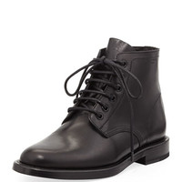 Saint Laurent Lace-Up Leather Jodhpur Boot