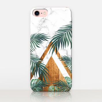 Exotic Leaves Marble Phone Case For-iPhone 7 Case-iPhone 7 Plus Case-iPhone SE Case-iPhone 6S case - iPhone 6 case-iPhone 5 Case Samsung S7