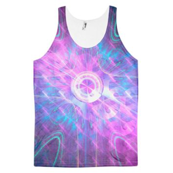 Opening a Shiny Purple Button || Classic fit tank top (unisex) — Future Life Fashion