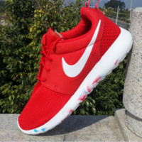 """NIKE"" Trending Fashion Casual Sports Shoes Black Red"