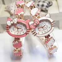 Women's Girls Hello Kitty Vintage Fashion Analog Quartz Watch