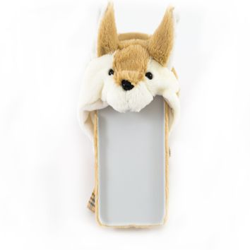 Corgi With Hoodie Hard Phone case ( iPhone X / 7 Plus/ 8 Plus)