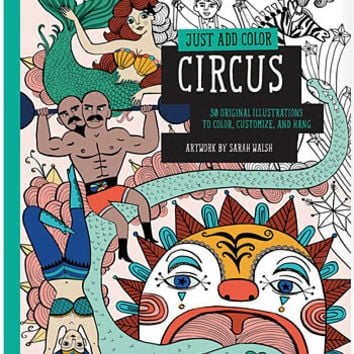 Retro Circus Freaks Coloring Book