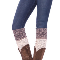 Crochet Knit Socks