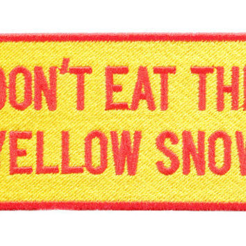 Vintage Style Ski Snowboard Patch Badge for Hat Cap Jacket Don't Eat The Yellow Snow