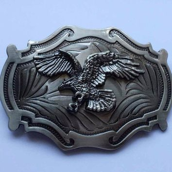 Flying Eagle Western Belt Buckle Gun Metal suitable for 4cm wideth belt with continous stock