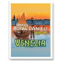 Vintage Venice Italy Travel Poster Art Post Cards