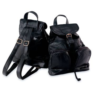 Genuine Lambskin Leather Backpack/Purse
