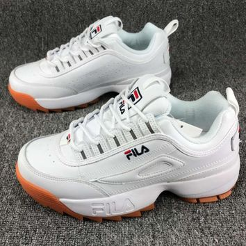 FILA Women Fashion Casual Running Sport Casual Shoes Sneakers White G-CSXY
