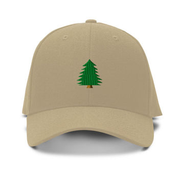 Pine Tree Embroidery Embroidered Adjustable Hat Baseball Cap