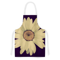 "Robin Dickinson ""Half Crazy"" Black Yellow Artistic Apron"
